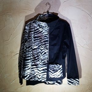 Berek Black Silver Jacket with Tank Shell XL